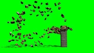 getlinkyoutube.com-different column collapses FX Effects - green screen 1
