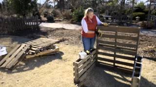 getlinkyoutube.com-Raised Bed Garden from Pallets