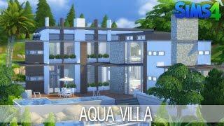 getlinkyoutube.com-The Sims 4 House Building - Aqua Villa - Speed Build