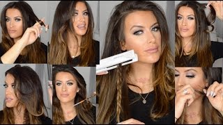 How to CURL and WAVE hair using FLAT IRON hair straighteners by Corioliss