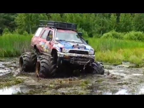 Off-road 4x4 Toyota LC 100,Toyoya Bomb,Jeep Grand Cheeroke mud Test