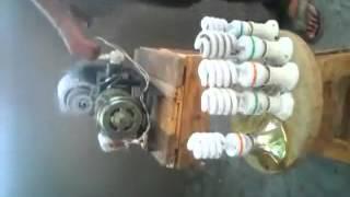 شاهد لا يفوتك طريقة توليد كهرباء سهلة جدا عبارة عن دينمو وماتور