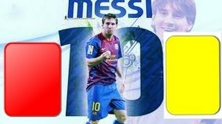 Leo Messi - Red And Yellow Cards!
