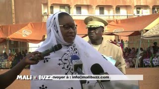 Hommage du ministre de la Culture du Mali, Mme N'Diaye R. Diallo, lors des obseques de Malick Sidibe