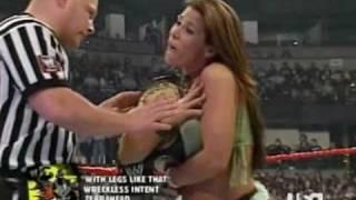 getlinkyoutube.com-Mickie James vs Maria w/ Trish Stratus - RAW 05-08-06