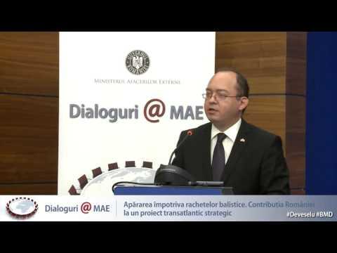 """Cea de a VI-a ediţie a dezbaterilor Dialoguri@MAE, cu tema """"Apărarea împotriva rachetelor balistice. Contribuția României la un proiect transatlantic strategic"""""""