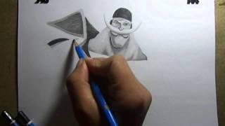 getlinkyoutube.com-Pencil Drawing - White beard (One piece)