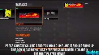 Black Ops 2 Glitches: Get any DLC Calling Card for FREE