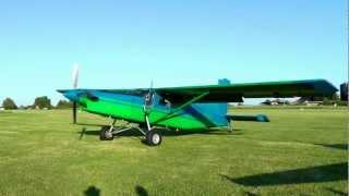 getlinkyoutube.com-Pilatus PC6 Turbo Porter Start up and impressive Take-off