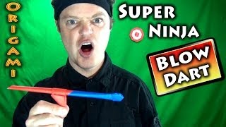 getlinkyoutube.com-Origami Super Ninja Blow Dart