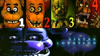 getlinkyoutube.com-Five Nights at Freddy's: Sister Location FNAF 1 2 3 4 Jumpscares Simulator