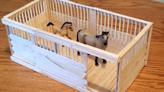 getlinkyoutube.com-How to make a Schleich Stall with Sliding Door and Wood Flooring