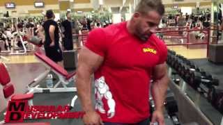getlinkyoutube.com-JAY CUTLER - CHEST AND TRICEPS WORKOUT 11 DAYS OUT UPDATE 2013 MR OLYMPIA