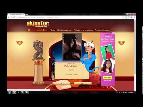 Akinator, mago adivinador de famosos.