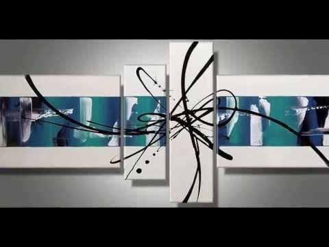 Cuadros abstractos pintados a mano Matblank