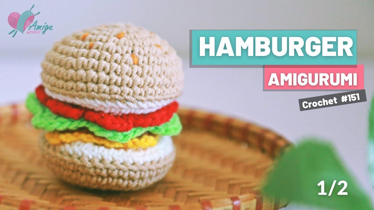 FREE pattern – Crochet a Hamburger amigurmi