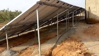 getlinkyoutube.com-تشغيل مضخة ماء غاطس 22 كيلوواط عن طريق الطاقة الشمسية بأستخدام هيتاشي انفيرتر
