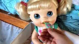 getlinkyoutube.com-Baby alive peas food baby alive milk bottle change baby alive diaper huggies diaper for baby alive