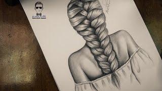 getlinkyoutube.com-اسهل طريقة لرسم الشعر تعلم رسم تسريحة الظفيرة how to draw braids