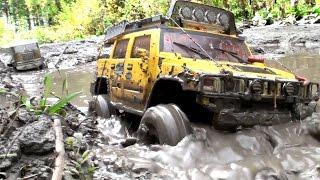 getlinkyoutube.com-RC TRUCK OFF Road 4x4 MUD Terrain - Tamiya Truck 6x6, Hummer, Axial SCX10 Honcho