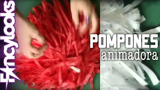 getlinkyoutube.com-Pompones animadora DIY: Disfraz Grease, Sandy Cheerleader