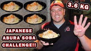 3.6kg Abura Soba Japanese Noodles Challenge In Tokyo!!