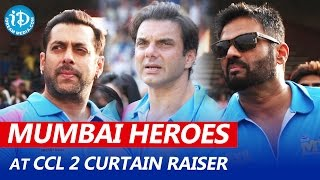getlinkyoutube.com-Mumbai Heroes Team Introduction at CCL 2 Curtain Raiser | Salman Khan, Sunil Shetty, Sohail Khan