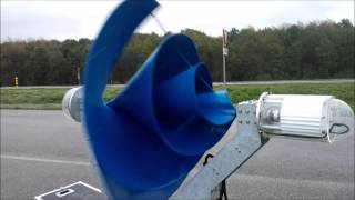 getlinkyoutube.com-Windvoordeel.nl and TheWindturbine.com present: The Archimedes LIAM F1 wind turbine free run