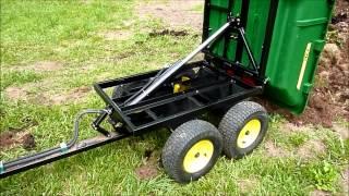 getlinkyoutube.com-John Deere 17P Hydraulic Tandem Dump Cart