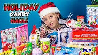getlinkyoutube.com-HOLIDAY Candy Haul GIANT SURPRISE Stocking Opening HD - PLP