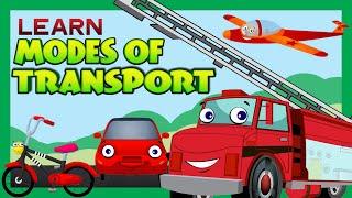 getlinkyoutube.com-Modes of Transport for Children | Kids Learning | Kids Hut