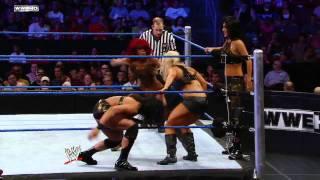 getlinkyoutube.com-Tamina,Alicia Fox and Rosa Mendes vs AJ Lee,Kaitlyn,and Natalya-WWE Superstars 06.23.11