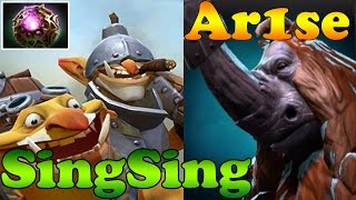 getlinkyoutube.com-Dota 2 - Ar1se Magnus and SingSing Techies - Epic Game 77 mins - Ranked Match Gameplay