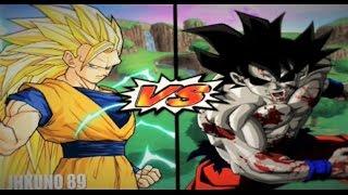 getlinkyoutube.com-Dragon Ball Z Budokai Tenkaichi 3 | Goku Angel SSJ 3 vs Zombie Goku | Duelos variados