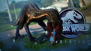 Jurassic World Evolution   INDORAPTOR ESCAPE!!   Indo VS Giga, Rex, Spino   Fallen Kingdom Gameplay