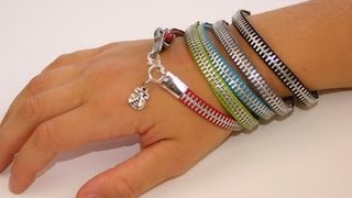 getlinkyoutube.com-DIY: Zipper Bracelet | Back-to-School Fashion Ideas