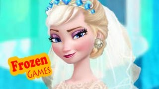 getlinkyoutube.com-DIsney Frozen Games | Frozen Wedding Dress Frozen Games For Kids Girls Games