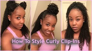 getlinkyoutube.com-3 Ways To Style Clips Ins With Natural Hair ft. HerGivenHair Company