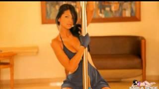 getlinkyoutube.com-Karla Spice - Sexy Venezuelan pole dances and strips (NO SOUND)