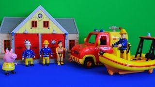 getlinkyoutube.com-Fireman Sam Full Episode Peppa Pig Boat Neptune Fire station peppa pig toys