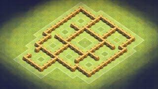 getlinkyoutube.com-Clash of Clans - TH5 Trophy Base, Clan War Base (Giant Killer) anti Giant, healer, barb