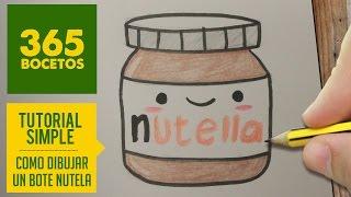 getlinkyoutube.com-COMO DIBUJAR NUTELLA KAWAII PASO A PASO - Dibujos kawaii faciles - How to draw a NUTELLA
