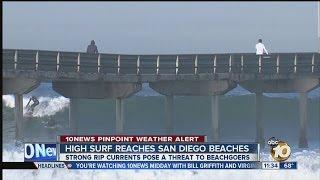 High surf hits San Diego beaches