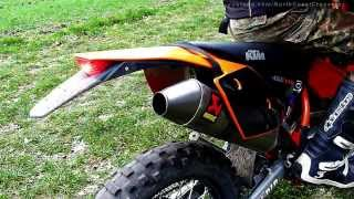 getlinkyoutube.com-KTM EXC 450 Akrapovic titan with/without dB-Killer [HD]