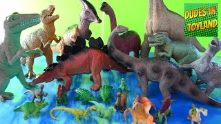getlinkyoutube.com-Dinosaur toys - Safari Ltd. Toobs, Walmart dinosaurs for children