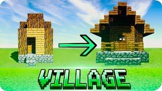 getlinkyoutube.com-Minecraft - How to Make Default Villages Look Better Tutorial (Works on MCPE Too)