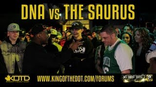 KOTD &#8211; Rap Battle &#8211; DNA vs The Saurus