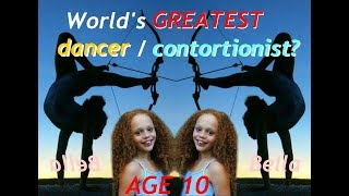 Amazing 10 year old dancer contortionist and footarcher // Meet Bella!