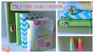 getlinkyoutube.com-DIY Fabric Traveler's Notebook
