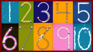 getlinkyoutube.com-✿★LetterSchool - Learn to write Letters and Numbers★✿ Numbers 1 to 10 Best app for kids